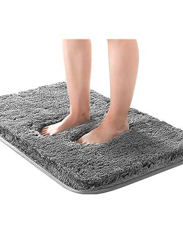 Badematte Badvorleger Matte Webteppich  Badteppich Teppich Duschvorleger weiß