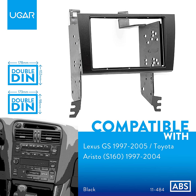 Ugar 11 484 Doppel Din Radioblende Dash Installation Faszie Kit Für Lexus Gs 1997 2005 Toyota Aristo S160 1997 2004 Auto