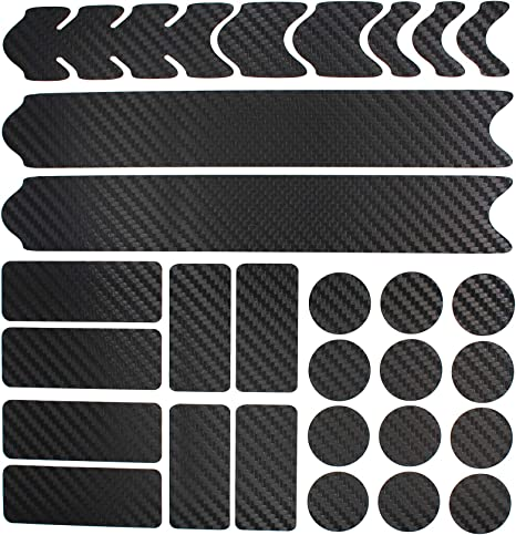 Bicycle Frame Protector Set Matt Black Film V2 Sticker MTB BMX Paint Protection
