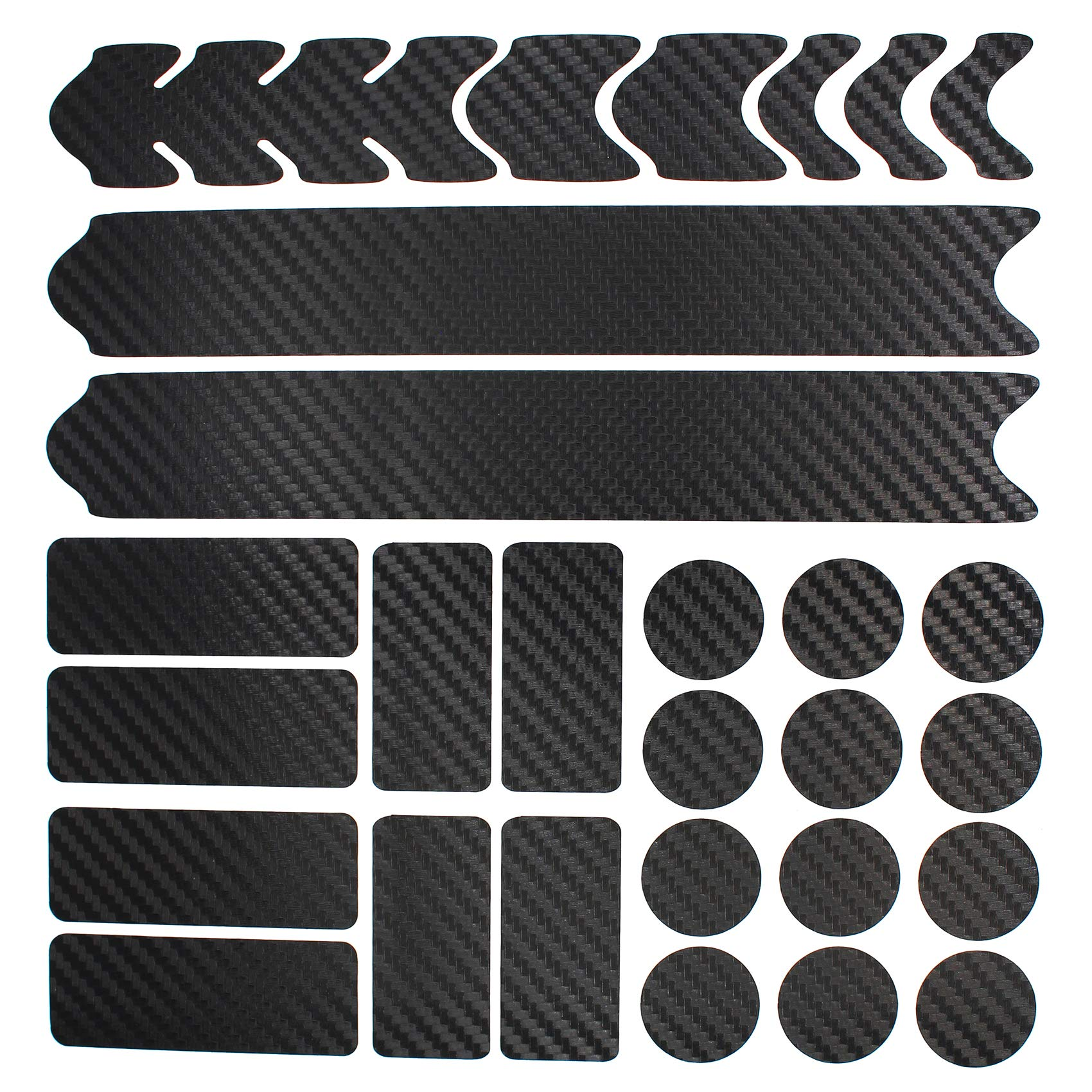 Bicycle Sticker Protector Frame Protection BMX 27 pieces in Carbon Black MTB