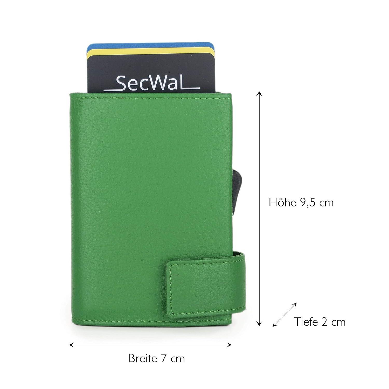 SecWal 2 Kreditkartenetui Geldb/örse RFID Leder 9 cm