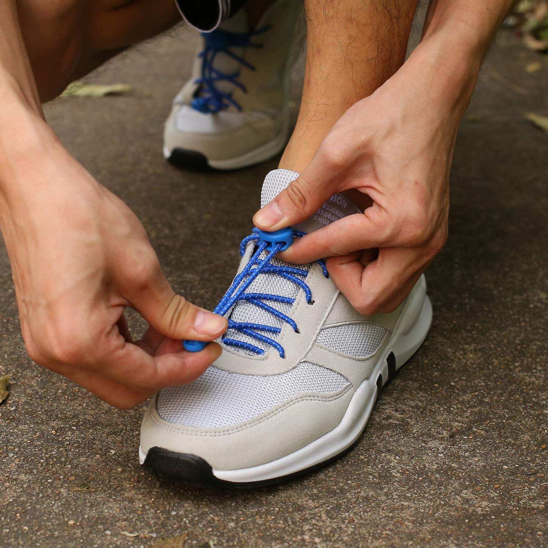 KATELUO cordones zapatillas,Cordones elásticos sin nudos para zapatillas,para Maratón y Triatlón Atletas,Corredores,Niños, Ancianos,Discapacitado (Azul): Amazon.es: Zapatos y complementos