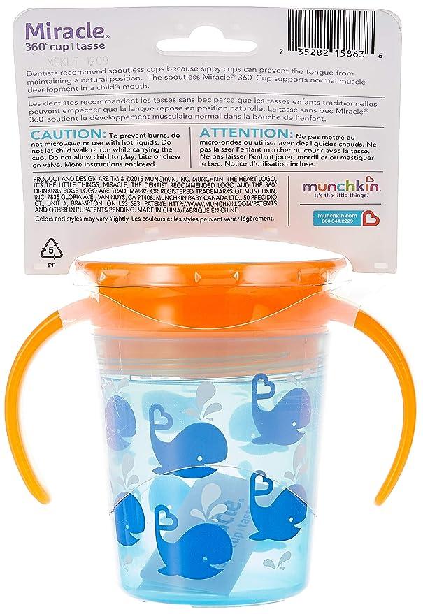 Munchkin Milagro 360/ 2/unidades //–/azul y naranja /Vaso de aprendizaje