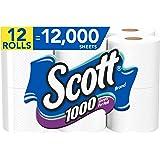 Scott 1000 Sheets Per Roll, 12 Toilet Paper Rolls, Bath Tissue