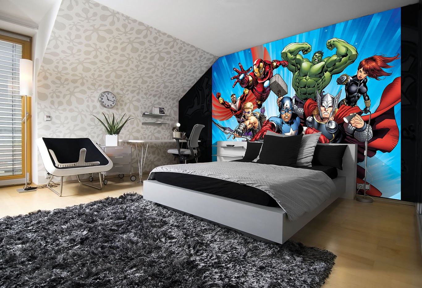 Marvel Avengers Papel pintado fotográ fico –  Papel pintado fotográ fico –  cuadro, velló n, L: 1,52 x 1,06 m ? 1 Teilig vellón Consalnet
