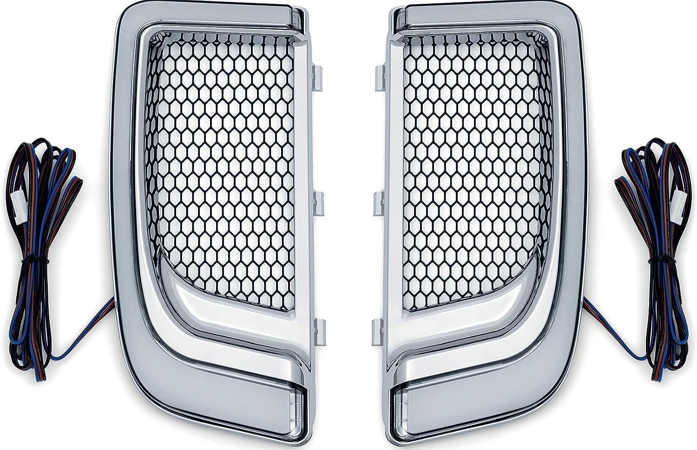 Kuryakyn 5063 Motorrad Beleuchtung Zubehör Tracer Led Lauflicht Blinker Verkleidung Untere Grills Für 2014 20 Harley Davidson Motorräder Chrom 1 Paar Auto