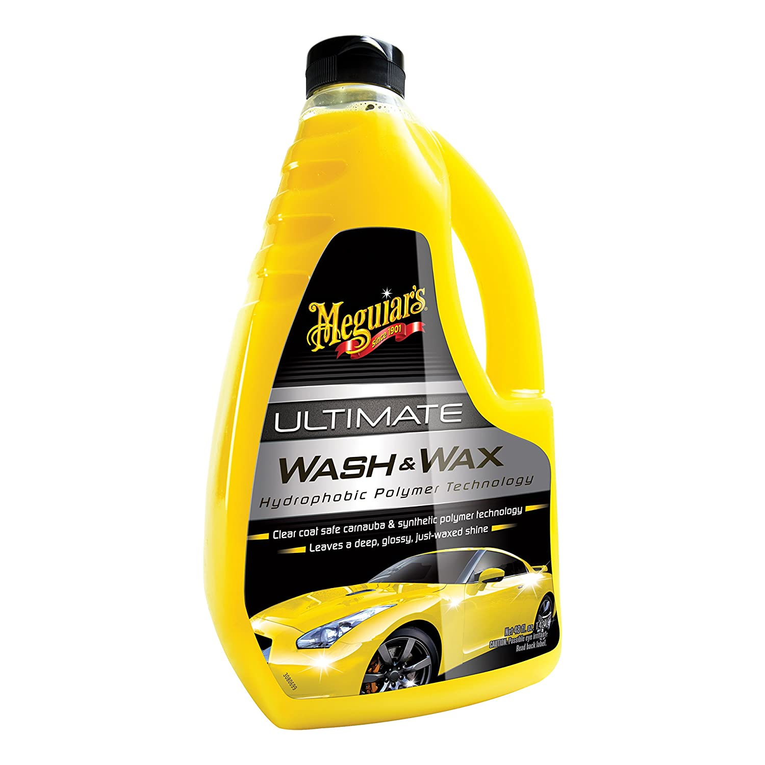 Meguiar's Ultimate Wash & Wax – Car Washing Made Easy – Clean and Shine in One Step – G17748, 48 oz