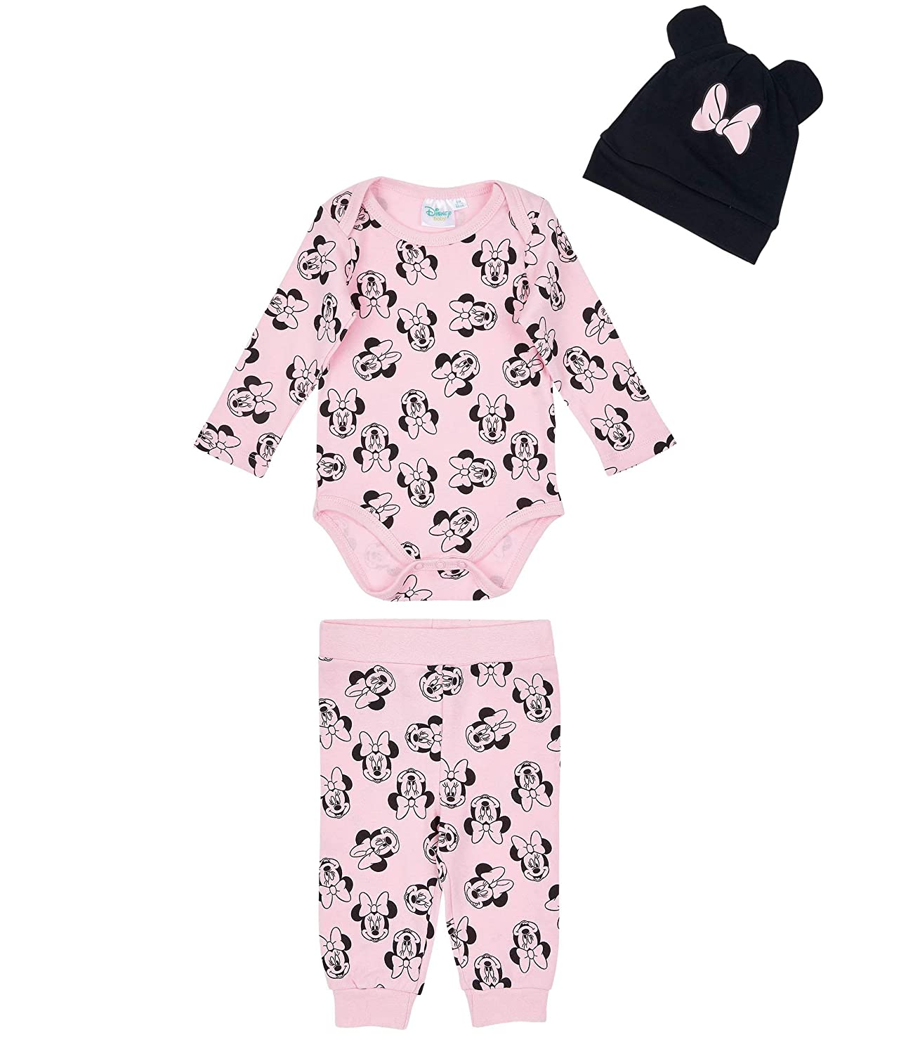 Disney Minnie Body pour bébé avec Leggings et Bonnet Babies Girls