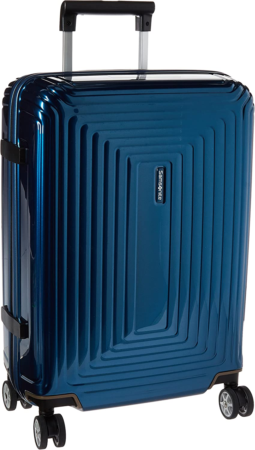 Samsonite Neopulse Hardside Luggage with Spinner Wheels, Metallic Blue, Checked-Large 28-Inch