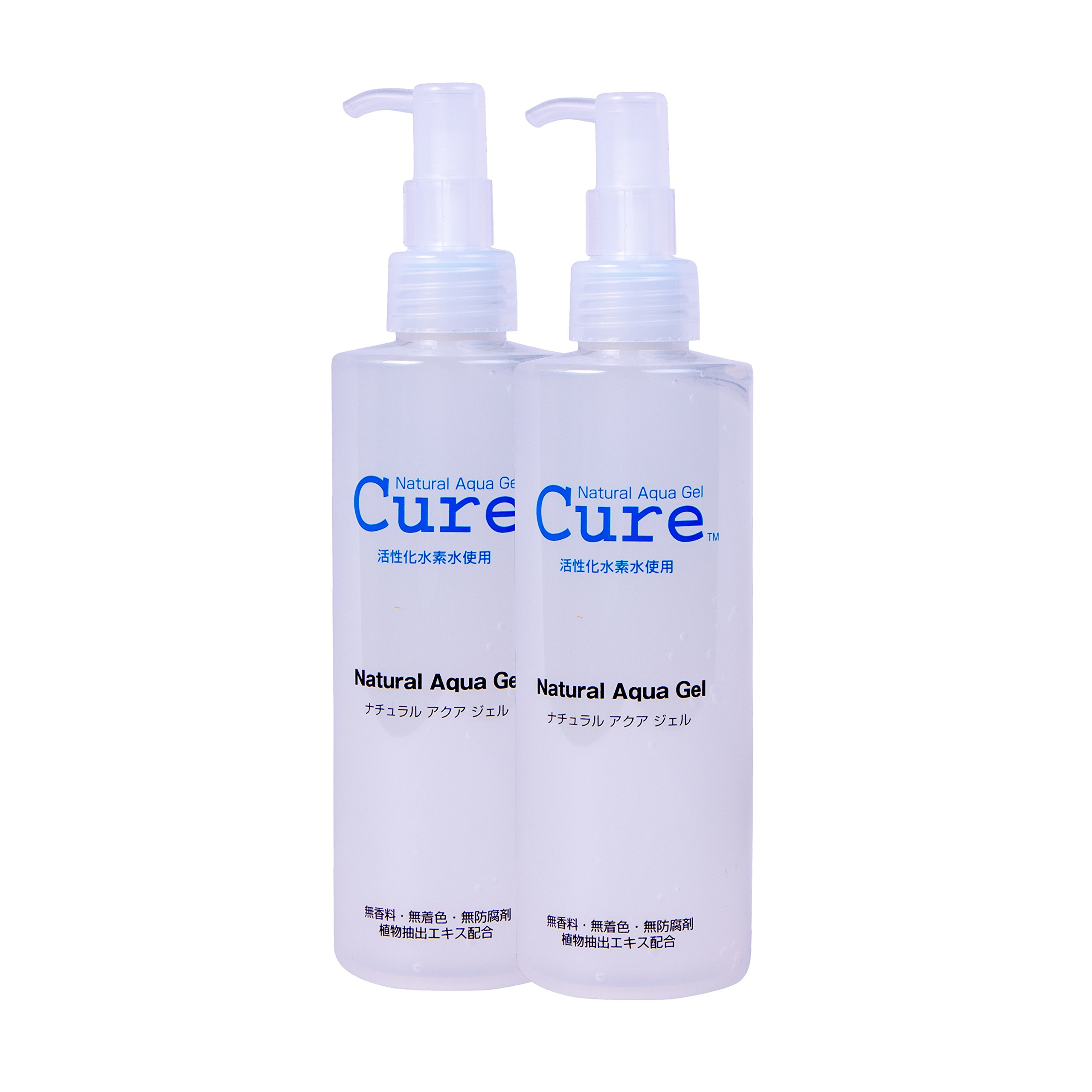 TOYO Cure Natural Aqua Gel - Hydrogen Activated Water Skin Exfoliator Suitable for All Skin Types ( 8.5 Ounce / 250 Milliliter - PACK OF TWO)