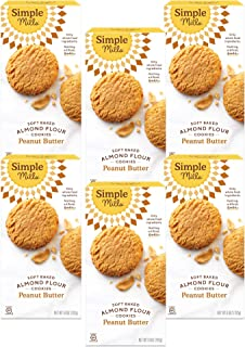 product image for Simple Mills Almond Flour Peanut Butter Cookies, Gluten Free and Delicious Soft Baked Cookies, Organic Coconut Oil, Good for Snacks, Made with whole foods, (Packaging May Vary), Pack of 6