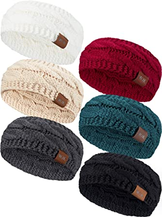 Women Winter Warm Headband Confetti Knit Thick Headband Ear Warmer Headband for Women 4 Pieces