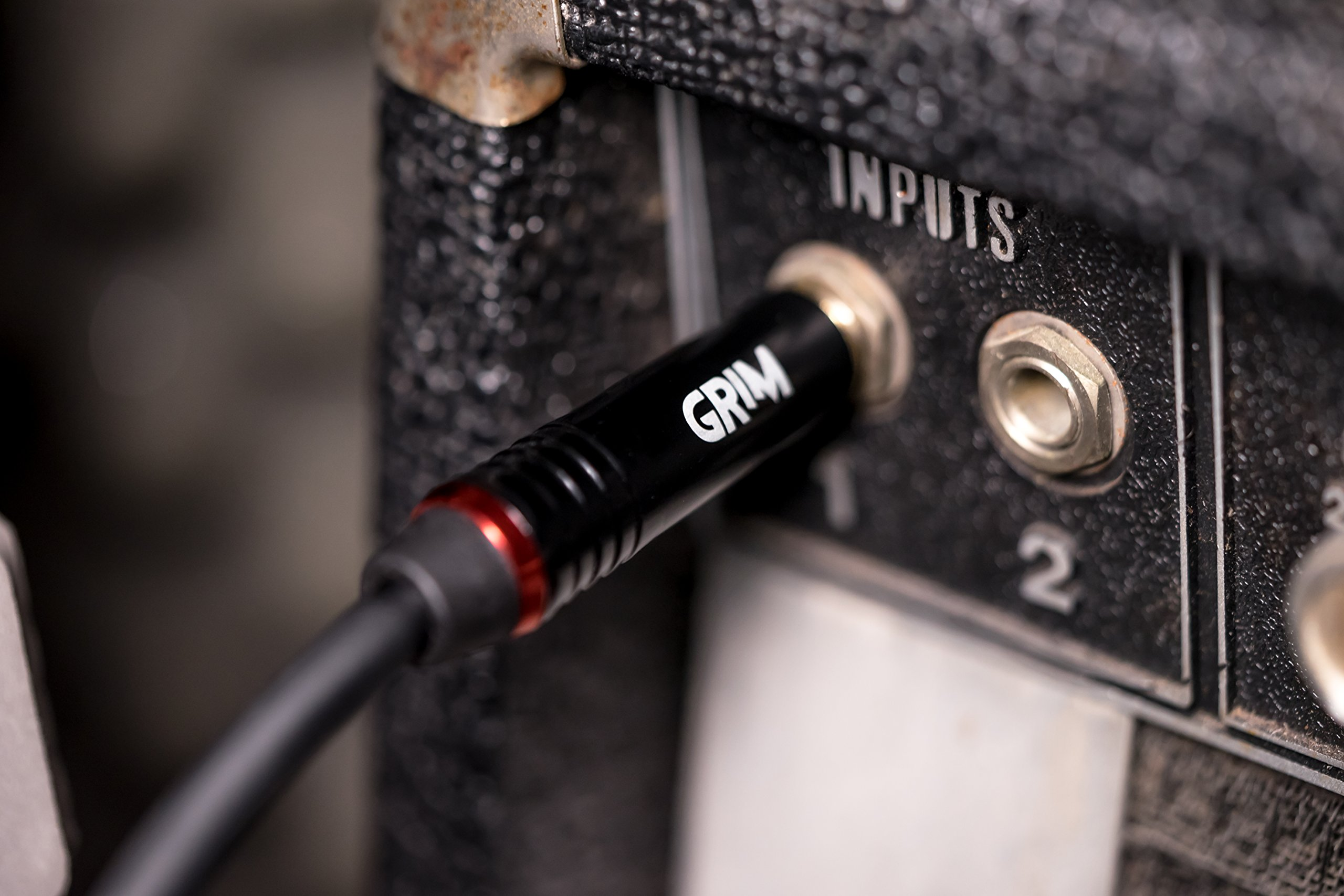 Grim Electronics Guitar Cable 10 ft. Premium Durable Instrument Cable For Guitar, Bass, Keyboard, Ukulele, Recording, Performance, Amp Cord & More - Professional 1/4 Inch 24kt Gold Connectors by Grim Electronics (Image #6)