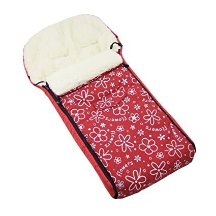 Los bebés-Dreams de flores colour rojo saco de abrigo de ...
