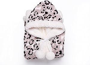Chic Home Snuggle Hoodie 51x71 Robe, Standard, Black Leopard