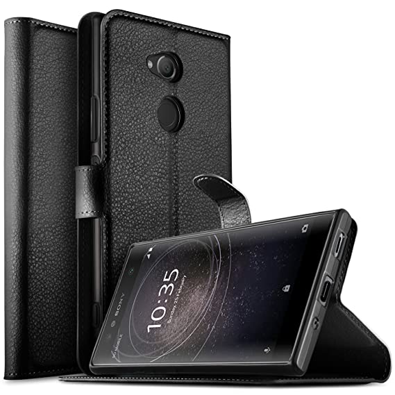 buy popular ef0a8 3a29b KuGi Sony Xperia XA2 Ultra case, Sony Xperia XA2 Ultra Case Premium PU  Leather Wallet Case, [Card Holder][Drop Proof] Flip Folio Protective Phone  ...