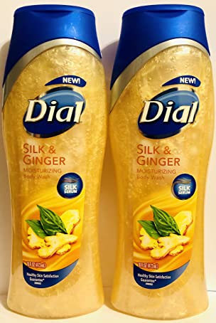 Dial Moisturizing Body Wash - Silk & Ginger - Net Wt. 16 FL OZ (473 mL) Per Bottle - Pack of 2 Bottles