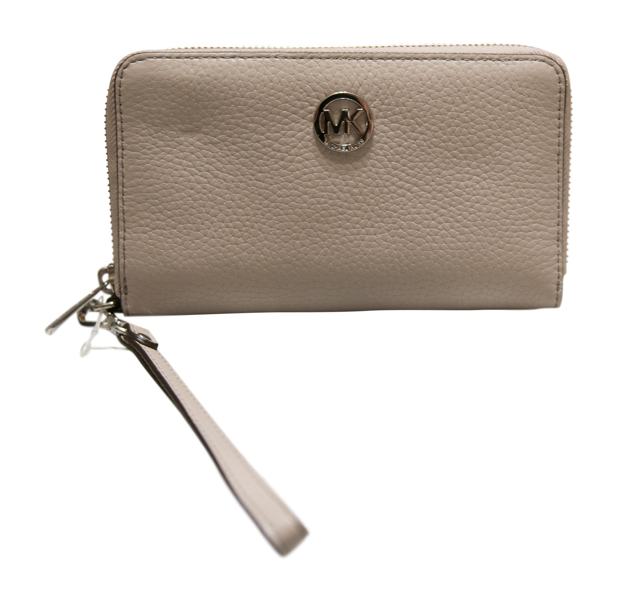 Michael Kors FultonLarge Flat Multifunction Leather Phone Case Wristlet, Cement by Michael Kors