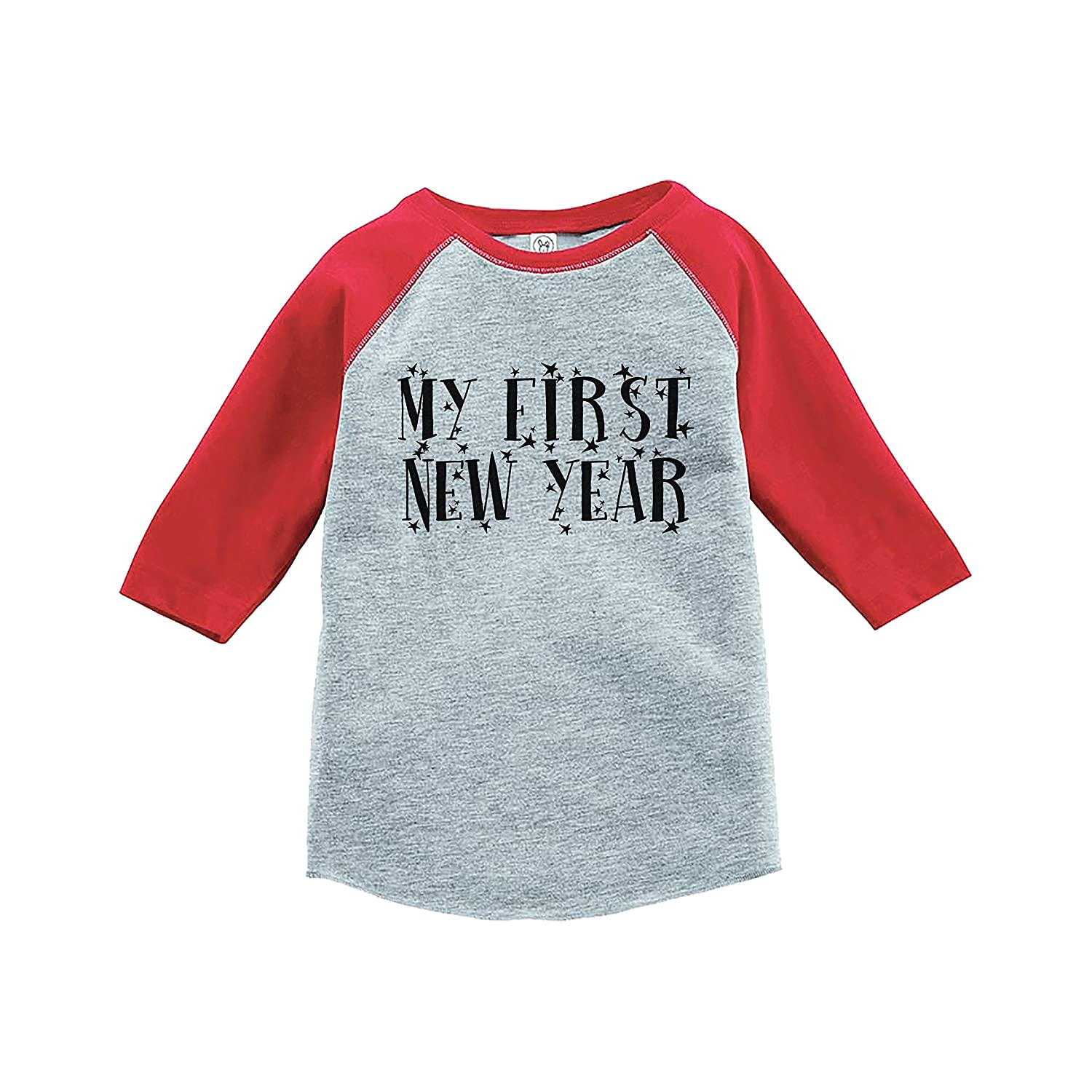 7 ate 9 Apparel Kids First New Years Eve Red Baseball Tee
