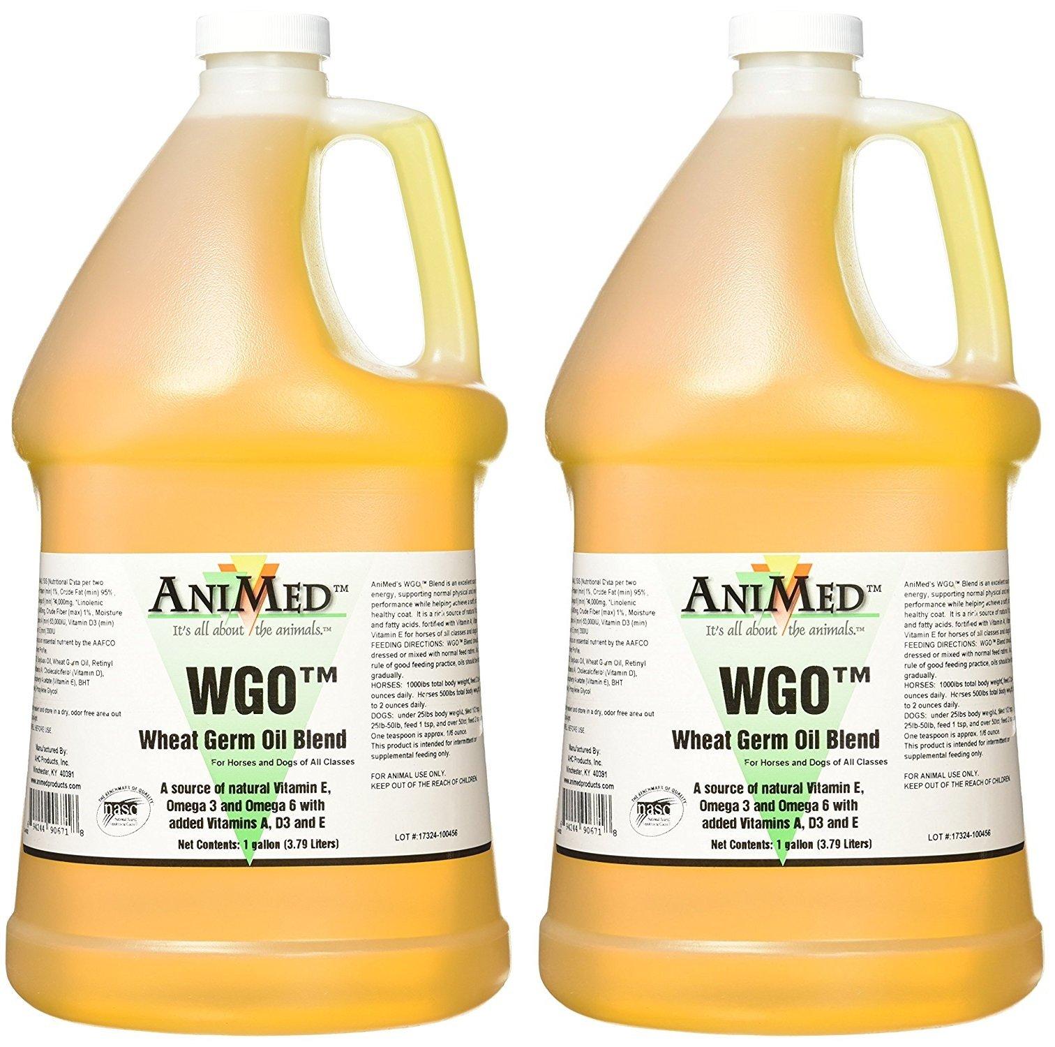 AniMed WGO Wheat Germ Oil Blend Supplement, 1 Gallon (2 Pack)