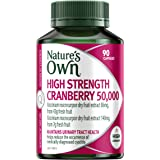 Nature's Own High Strength Cranberry 50,000 - Maintains urinary tract and kidney health - Antioxidant, 90 Capsules
