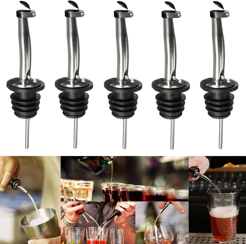 A Tobsayk 10-pack en acier inoxydable Vin verseurs liqueur les nacelles Lot pour vin liqueur dhuile dolive vinaigre de sirop de caf/é bouteilles