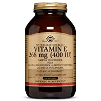 Vitamin E 268 MG (400 IU) Mixed Softgels (d-Alpha Tocopherol & Mixed Tocopherols...
