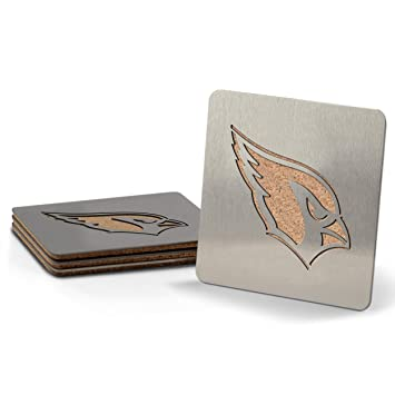 051764df YouTheFan NFL Boasters (Drink Coasters): 4-Piece Stainless Steel, Laser-Cut  Team Coaster Set