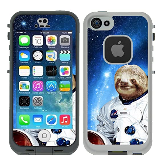 san francisco 72557 7c8bf Protective Designer Vinyl Skin Decals/Stickers for Lifeproof iPhone 5/5S/Se  Fre Case -Hipster Astronaut Sloth Design Patterns - Only Skins and Not ...
