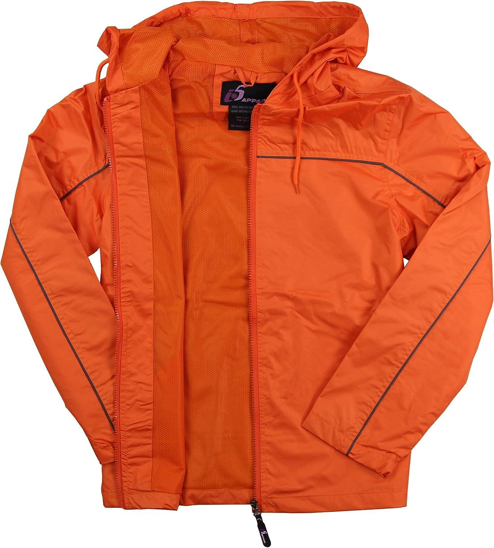 I5 Apparel Womens Lightweight Hooded Windbreaker Jacket