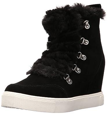 Steve Madden Women's Lift Fashion Sneaker, Black/Multi, ...