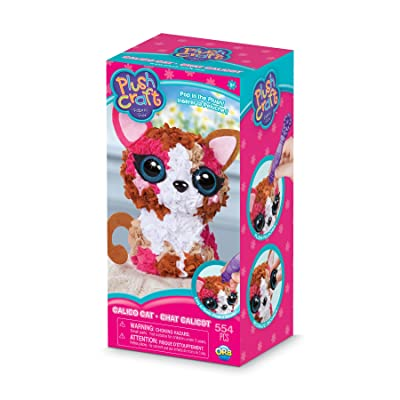 The Orb Factory PlushCraft Calico Cat 3D: Toys & Games