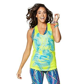 Zumba Fitness® ZRepstyle Loose Tank Camisetas sin Mangas, Mujer, Verde, XS