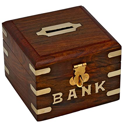 Chirstmas Sale  Safe Money Box Wooden Piggy Bank For Boys Girls And Adults