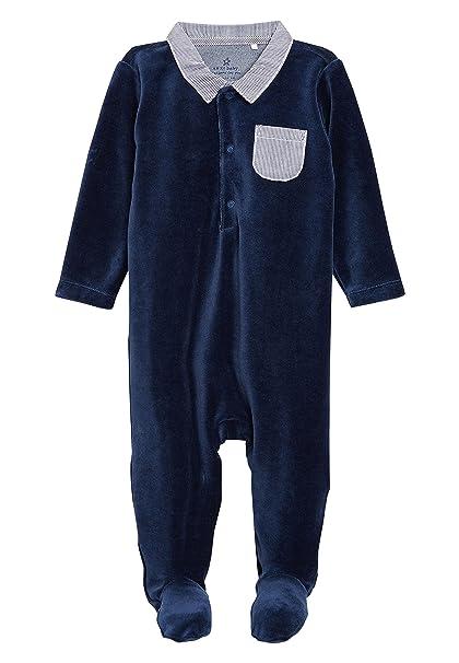 next Bebé-Niños Pijama Tipo Pelele De Vestir De Velour (0 Meses - 2 Años) Azul Marino 1.5-2 años: Amazon.es: Ropa y accesorios