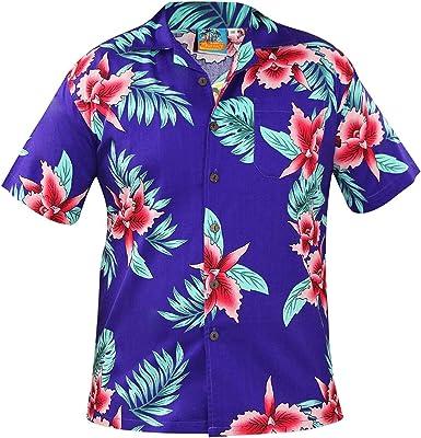 True Face - Camiseta Hawaiana para Hombre de Manga Corta de algodón con Estampado de Hawaii: Amazon.es: Ropa y accesorios