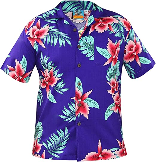 True Face - Camiseta Hawaiana para Hombre de Manga Corta de ...