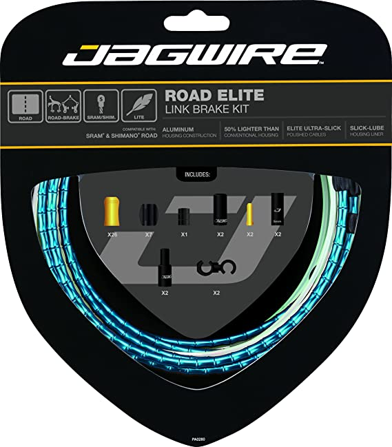 Jagwire Road Elite Link Brake Cable Kit SRAM//Shimano Blue