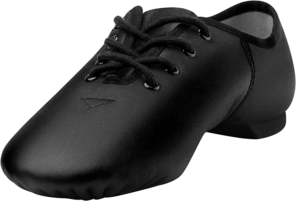 Linodes Women's Lace Up Jazz Shoe Black 4M