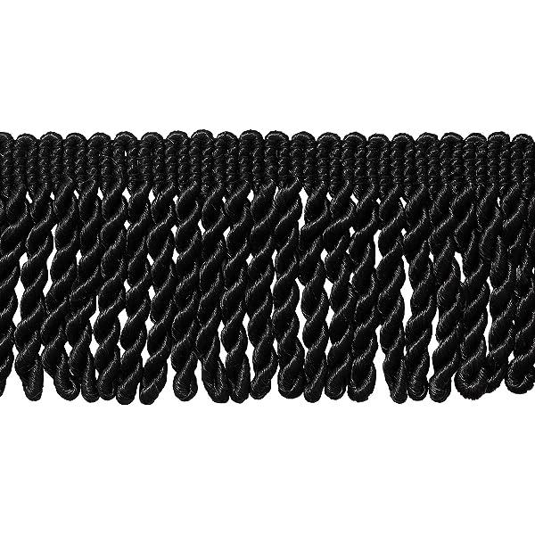 Style# BFS3 Color: K9 3 Inch Long Black Bullion Fringe Trim 21 Ft // 6.4M DecoPro 7 Yard Pack