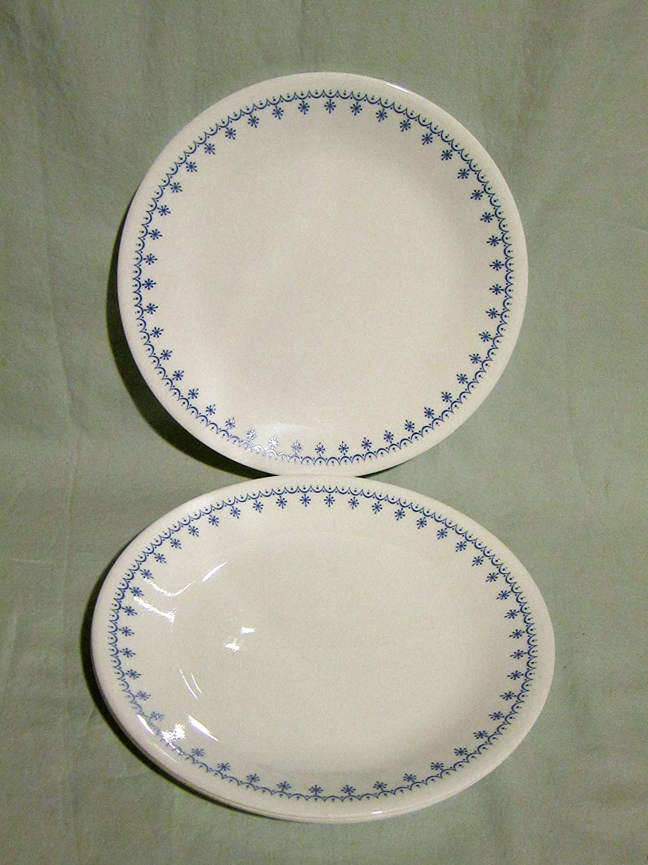 & Snowflake Salad Plates - Winter Home Decor