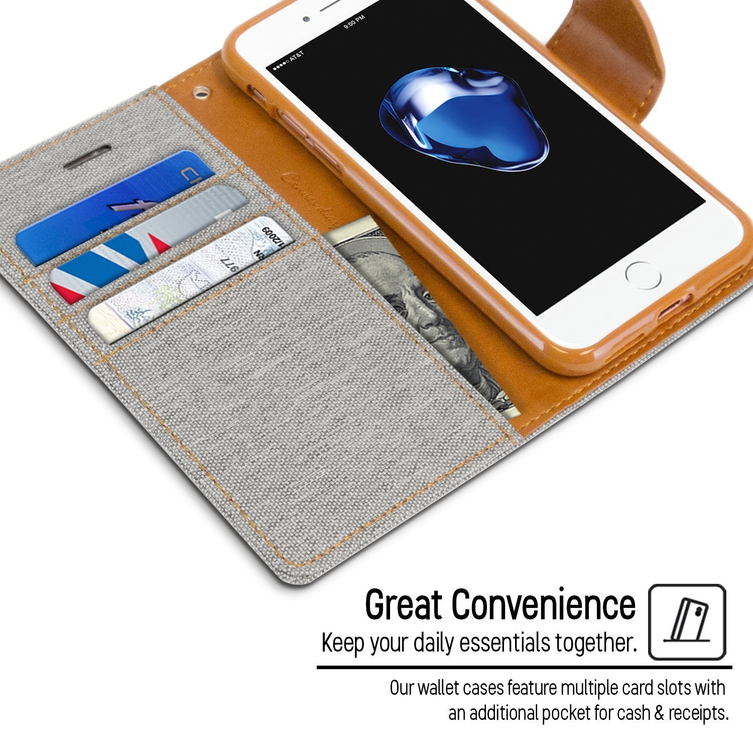 Mobile Life Wallet Flip Case Cover With Tempered And Goospery Samsung Galaxy Core 2 Canvas Diary Blue Electronics
