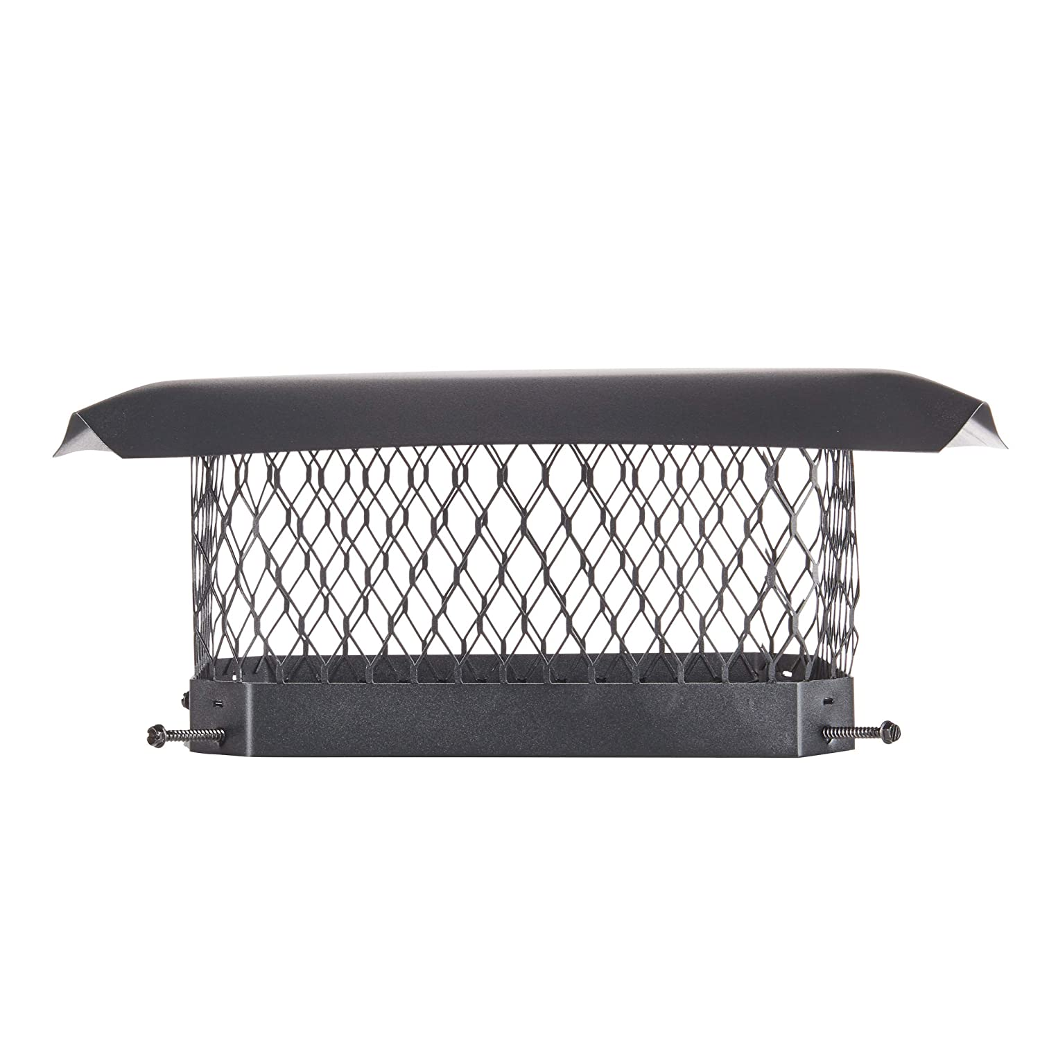 Black Galvanized Steel Renewed Fits Outside Existing Clay Flue Tile Dimensions 12 x 16 HY-C SC1216 Shelter Bolt On Single Flue Chimney Cover Mesh Size 3//4