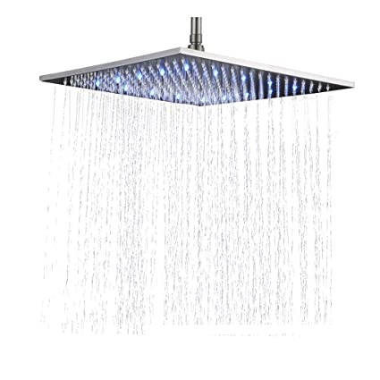 Rozin Bathroom Replacement 16 Inch Square Rainfall Shower Head Led