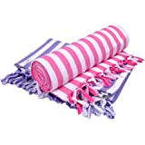 Sathiyas Supreme Turkish 480 GSM Cotton Bath Towel (Set of 2, Lavender and Pink)