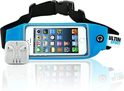 FH Running Belt with Clear Case Waist Bag Pack iPhone 6 7 Samsung 7 Phone Holder