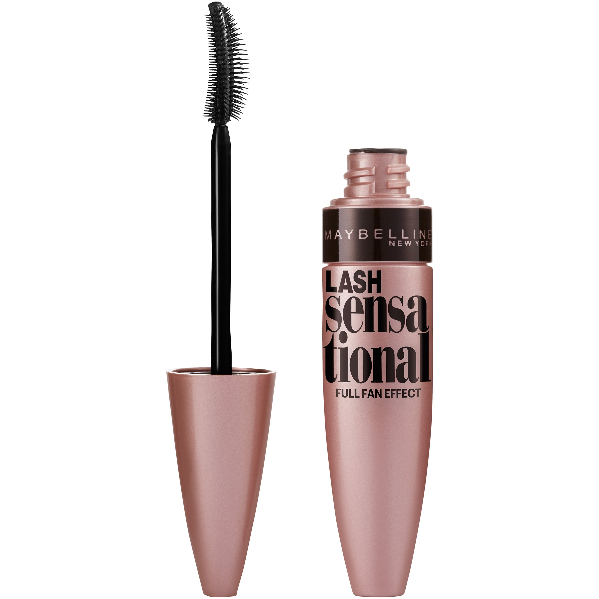 Maybelline New York Lash Sensational Mascara, Blackest Black, 0.32 Fluid Ounce
