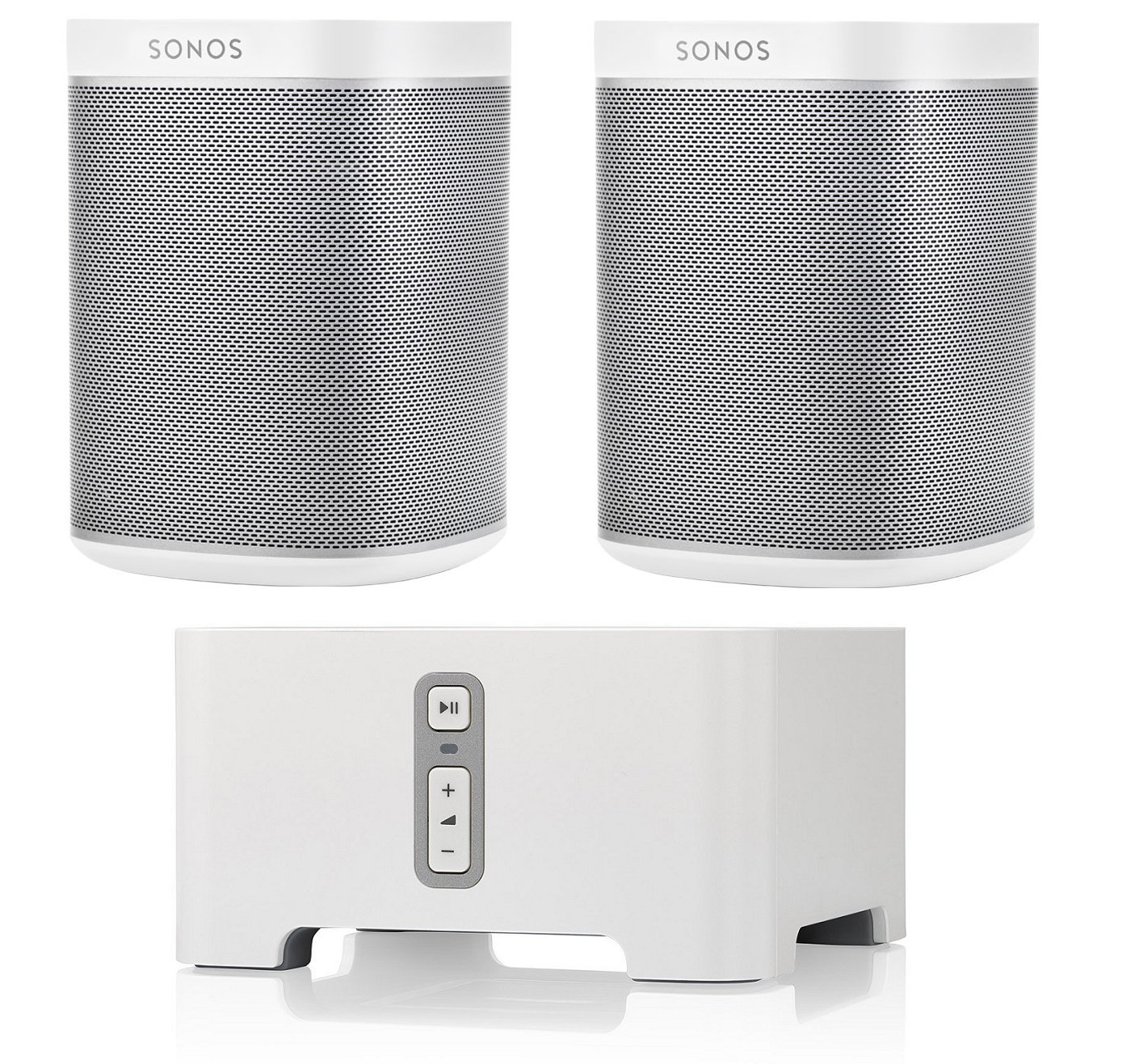 Sonos CONNECT Wireless Receiver for Streaming Music Bundle & Sonos PLAY:1 Wireless Speaker, Pair - White by Sonos