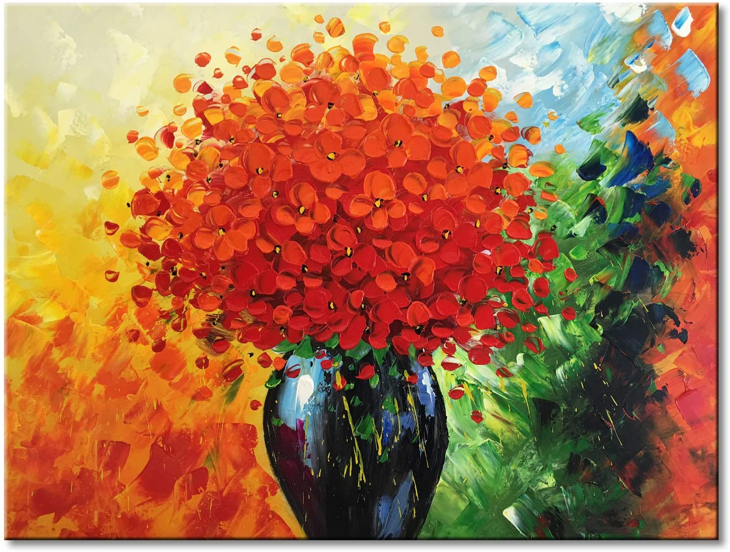 Abstract Floral Painting Abstract Floral Art Contemporary Art Abstract Painting Artwork Interior Art Free Shipping Canada