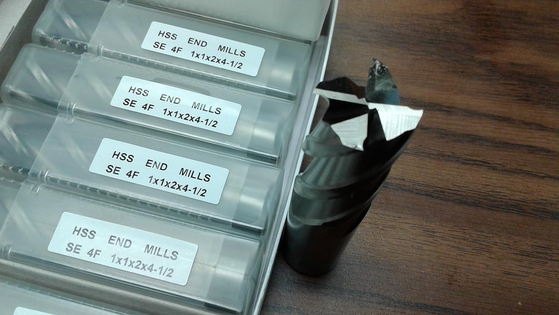 10pcs 1 4 Flute S//E Premium M2 HSS end mills,center-cutting#1009I-New